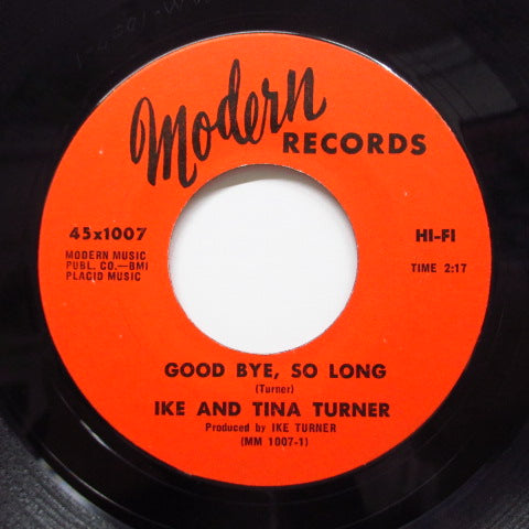 IKE & TINA TURNER - Good Bye,So Long (Orig)