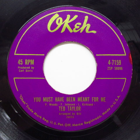 TED TAYLOR - You Must Have Been Meant For Me (Orig.Gold Logo)