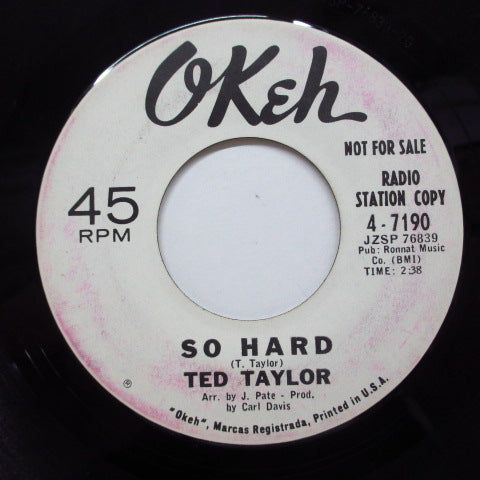 TED TAYLOR - Need You Home (Promo)