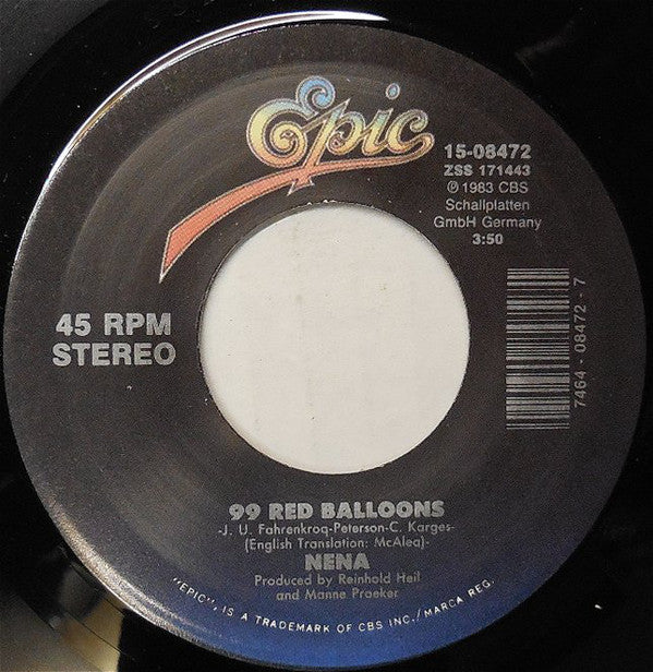 "NENA - 99 Red Ballons (US Reissue 7"")"