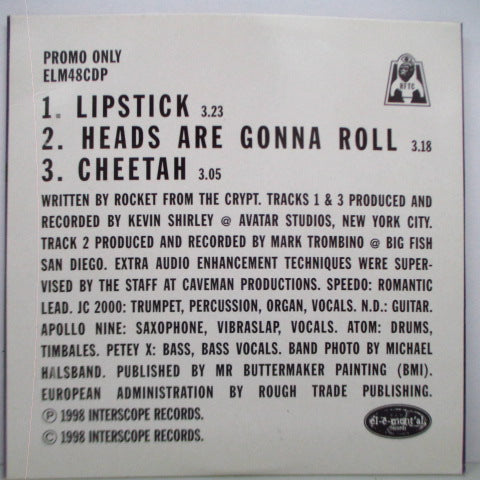 ROCKET FROM THE CRYPT - Lipstick (UK Promo.CD)