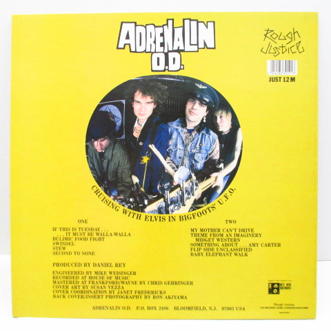 ADRENALIN O.D. - Cruising With Elvis In Bigfoots' UFO (UK Orig.LP)