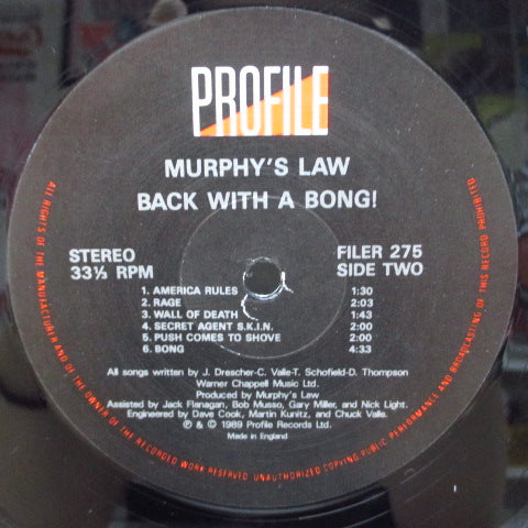 MURPHY'S LAW - Back With A Bong! (UK Orig.LP)