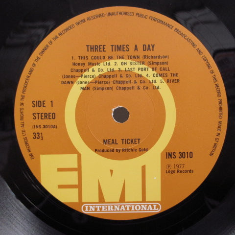 MEAL TICKET - Three Times A Day (2nd) (UK:Orig.)