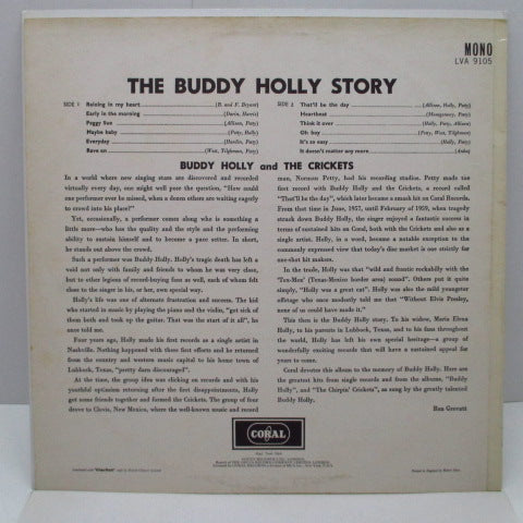 BUDDY HOLLY - The Buddy Holly Story (UK 60's Re Mono LP/Roll-Neck Sweater CVR)