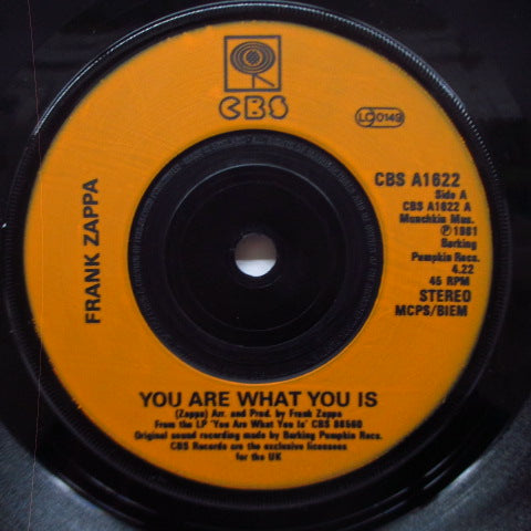 "FRANK ZAPPA - You Are What You Is (UK Orig.7""+PS)"