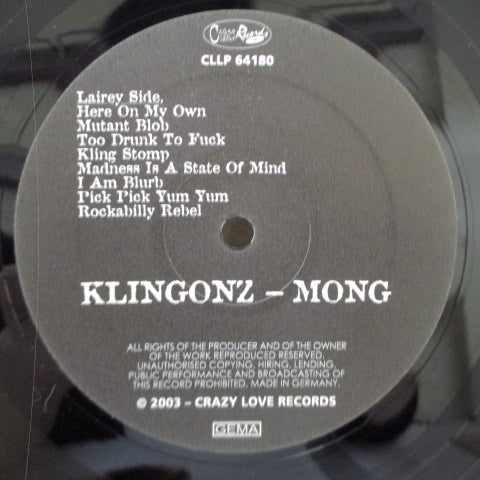 KLINGONZ - Mong - Aaah! The Boys Gettin' A Bit Lairy At The Big Rumble (German RE LP)