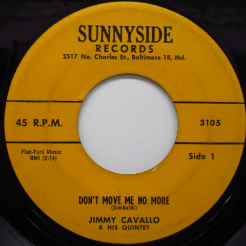 JIMMY CAVELLO & HOUSE ROCKERS - Don't Move Me No More (Orig)