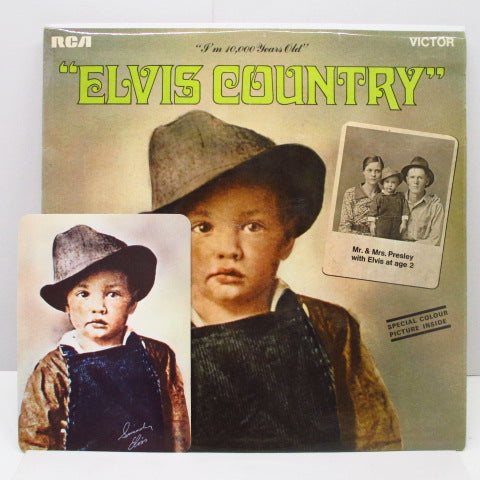 ELVIS PRESLEY - Elvis Country (UK Orig+Photo)※片面コート