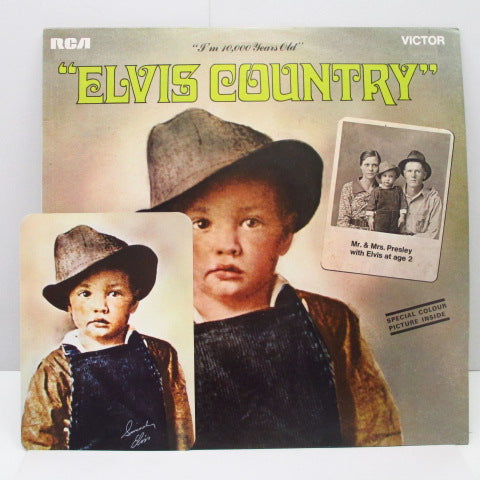 ELVIS PRESLEY - Elvis Country (UK Orig+Photo)※コート無し