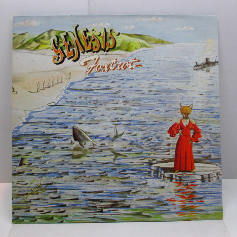 GENESIS - Foxtrot (UK 80's Re Blue Lbl.LP/No Barcode GS)
