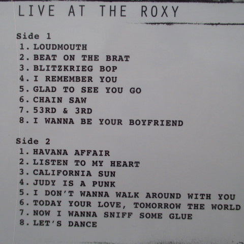 RAMONES - Live At The Roxy August 12, 1976 (EU Ltd.RSD LP)