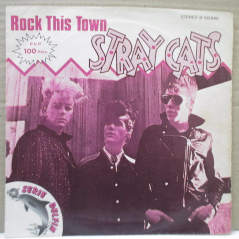 "STRAY CATS - Rock This Town (Spain Orig.7"")"