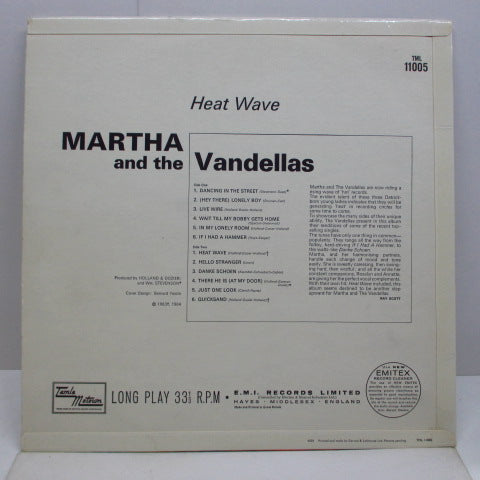MARTHA & THE VANDELLAS - Heat Wave (UK Orig.Mono LP/CFS)