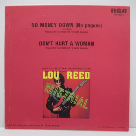 "LOU REED - No Money Down (Spain Orig.7""+PS)"
