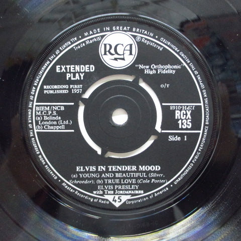 ELVIS PRESLEY - In Tender Mood (UK 60's Re EP/CFS)