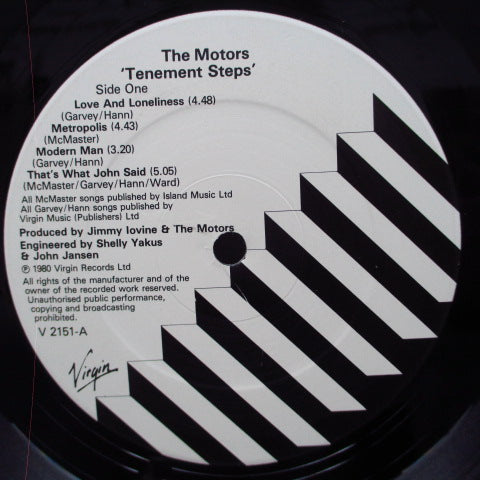 MOTORS, THE - Tenement Steps (UK Orig.LP)