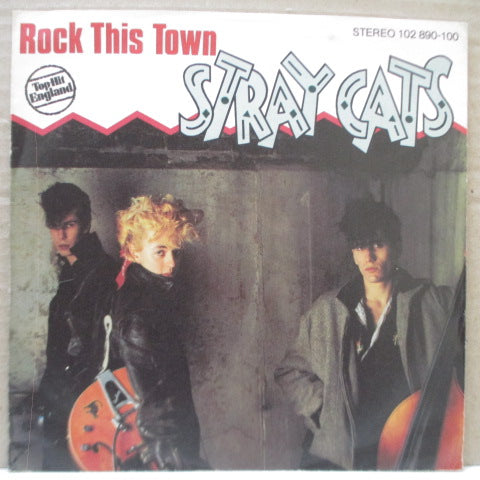 "STRAY CATS - Rock This Town (German Orig.7"")"