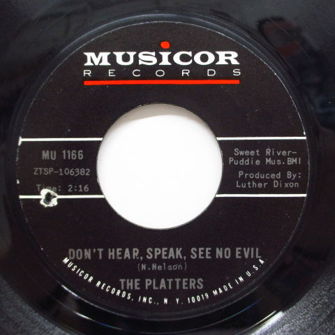PLATTERS - Don't Hear, Speak, See No Evil