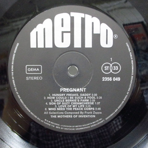 FRANK ZAPPA (MOTHERS OF INVENTION) - Pregnant (German Orig.Stereo LP/CS)