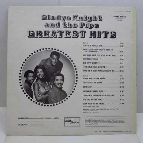 GLADYS KNIGHT & THE PIPS - Greatest Hits (UK 70's Reissue LP/EMI Rim)