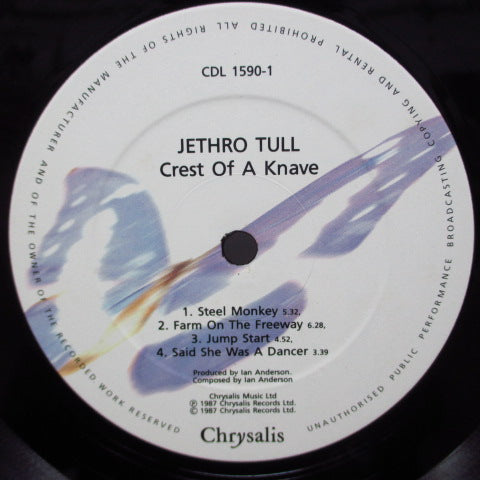 JETHRO TULL - Crest Of A Knave (UK Orig.LP/Lightly Textured CVR)