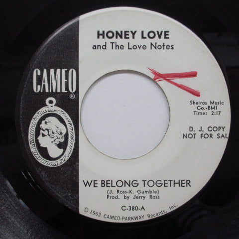 HONEY LOVE & THE LOVE NOTES - Mary Ann / We Belong Together (Promo)