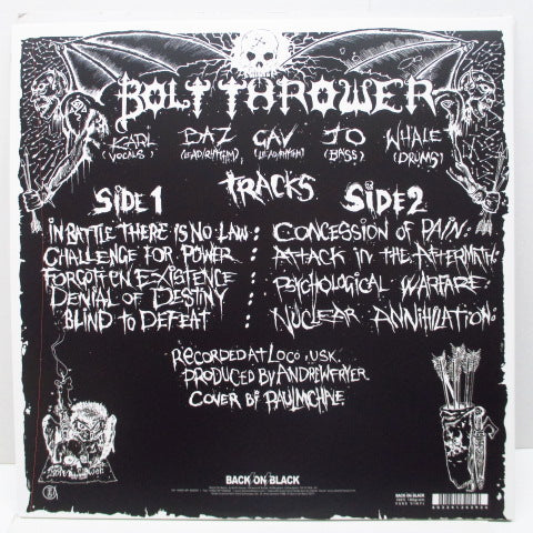 BOLT THROWER - In Battle There Is No Law! (UK Ltd.Grey Vinyl LP/GS)