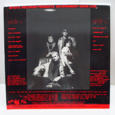 GOVERNMENT ISSUE - Live! (US Orig.LP)