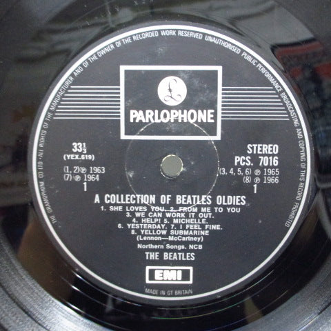 BEATLES - Collection Of Beatles Oldies (UK '69 1xEMI Stereo/G&L CFS)