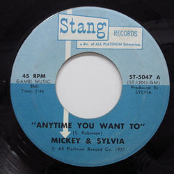 MICKEY & SYLVIA - Anytime You Want To (US Orig)
