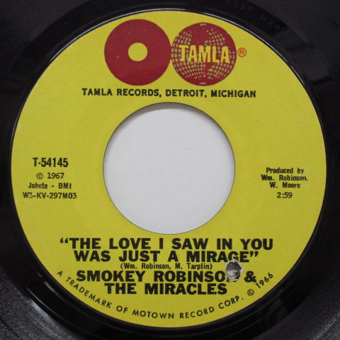 MIRACLES (SMOKEY ROBINSON & THE) - Come Spy With Me (Orig.Globe Label)