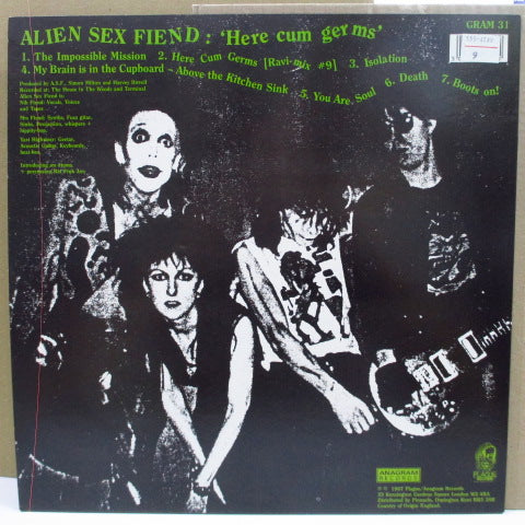 ALIEN SEX FIEND - Here Cum Germs (UK Orig.LP)