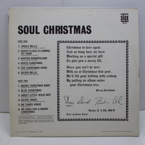 BOOKER T. & THE MG'S - Soul Christmas (UK Orig.Mono/CS)