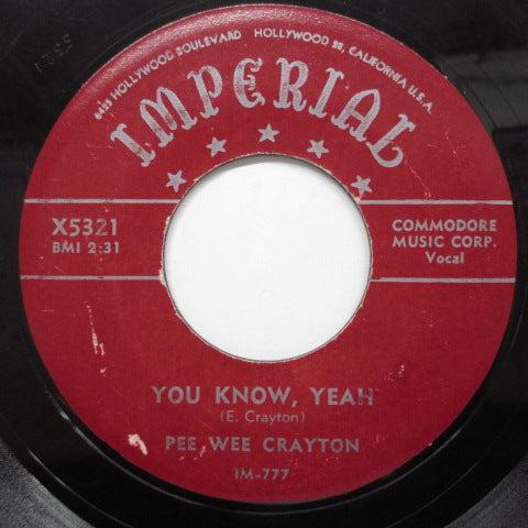 PEE WEE CRAYTON - You Know, Yeah (Orig)