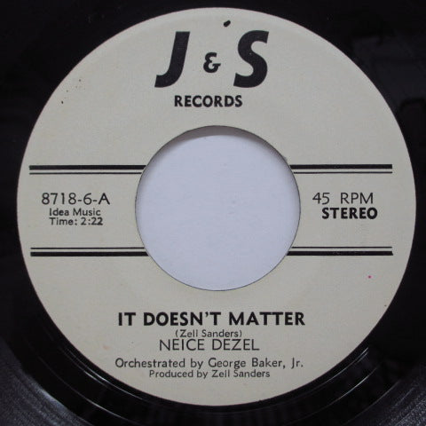 NEICE DEZEL - It Doesn't Matter (US Orig)