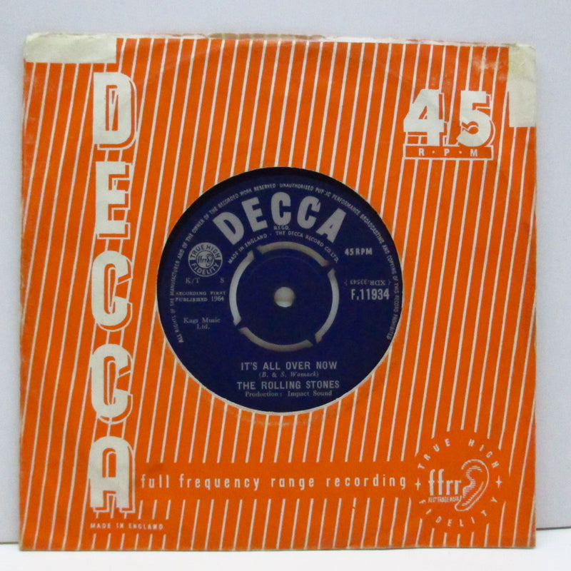 "ROLLING STONES (ローリング・ストーンズ)  - It's All Over Now (UK Orig.7""+CS)"