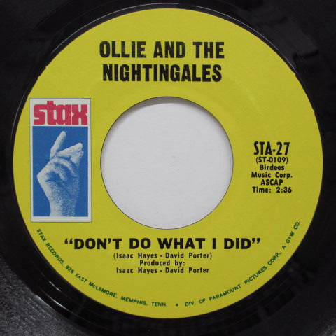 OLLIE & THE NIGHTINGALES - Don't Do What I Did (US Orig)