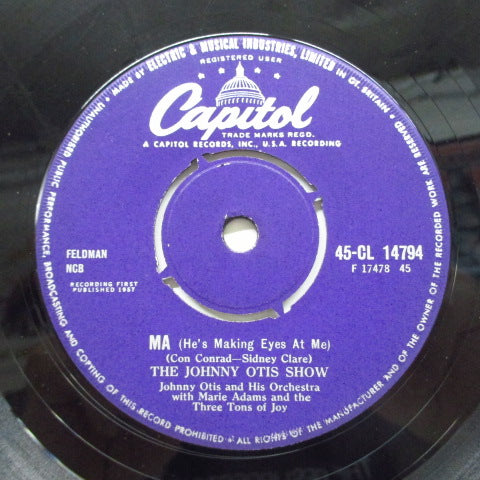 JOHNNY OTIS SHOW - Ma (He's Makin' Eyes At Me) ※UK盤