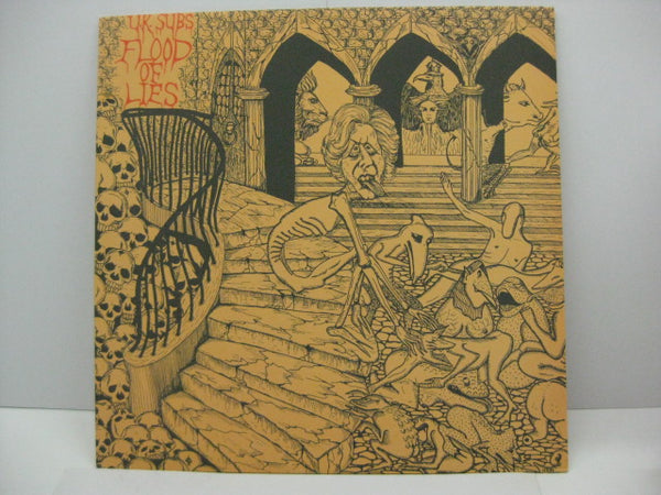 U.K. SUBS - Flood Of Lies (UK Orig.LP/Illust CVR)