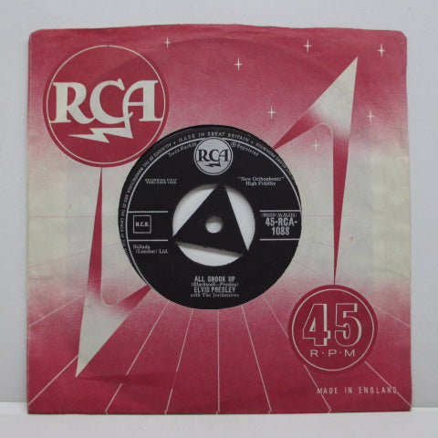 "ELVIS PRESLEY - Heartbreak Hotel (UK RCA '58 Reissue 7""+CS)"