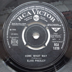 ELVIS PRESLEY - Come What May (UK Orig)