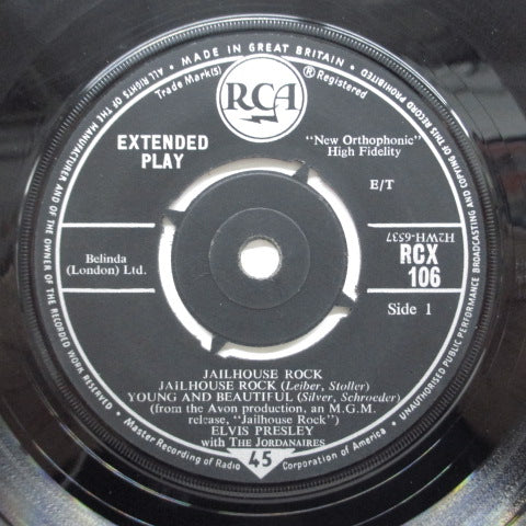 ELVIS PRESLEY - Jailhouse Rock +4 (UK 60's Reissue EP)