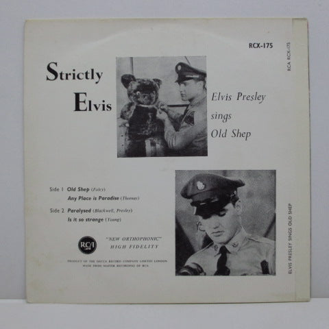 ELVIS PRESLEY - Strictly Elvis (UK '69 Orange Label Reissue EP/CS)