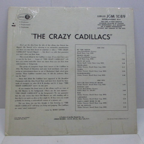 CADILLACS - The Crazy Cadillacs (US '62 2nd Press Mono)