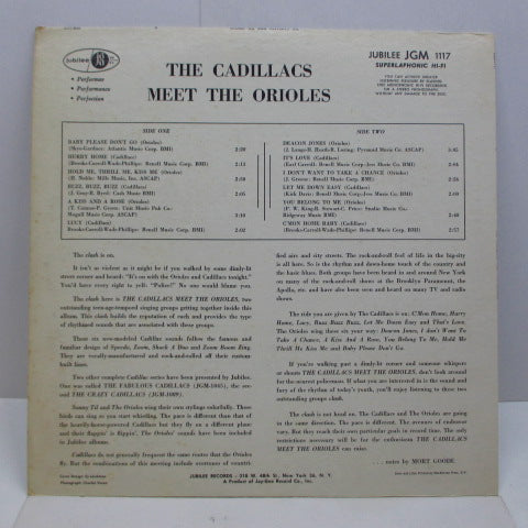 CADILLACS / ORIOLES - The Cadillacs Meet The Orioles (US Orig.Mono LP)