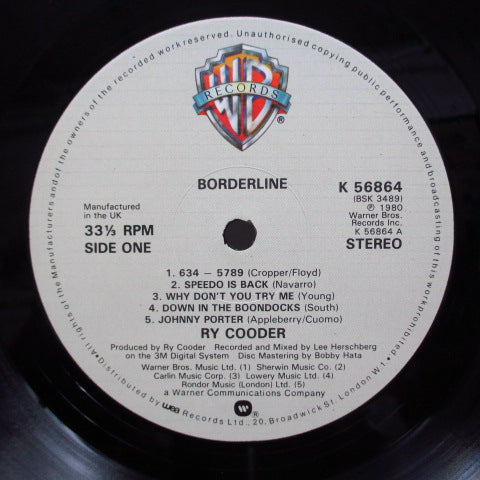 RY COODER - Borderline (UK Orig.LP)