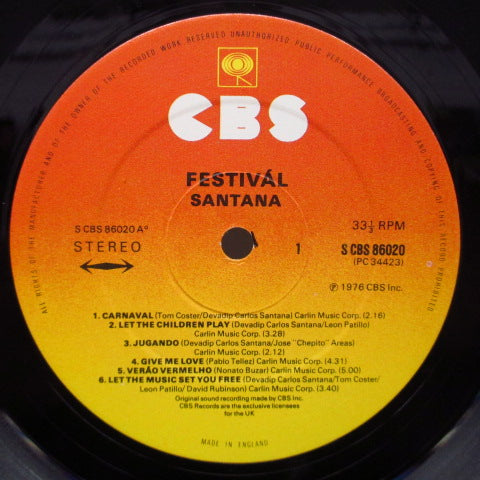 SANTANA - Festival (UK 70's Re Flexible LP)