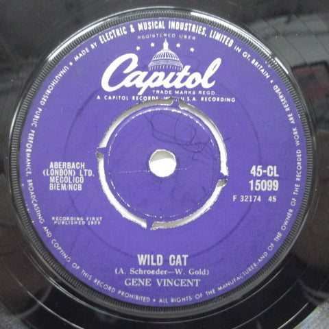 GENE VINCENT - Wild Cat (UK Orig)