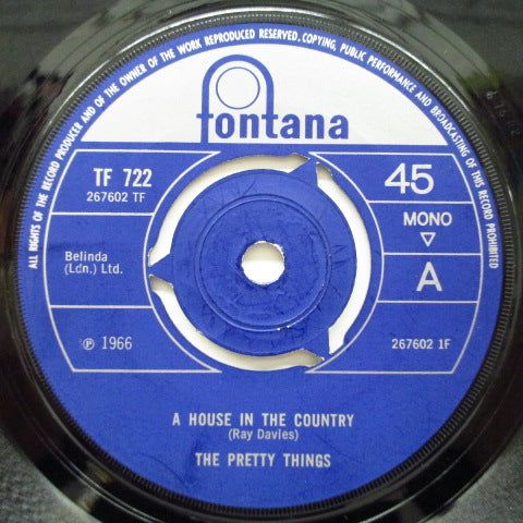 "PRETTY THINGS - A House In The Country (UK Orig.Round Center 7""+CS)"